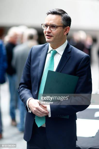 Green Party coleader James Shaw during the 2017 Green Party Conference at AUT Auckland during the 2017 Green Party Conference on July 16 2017 in...