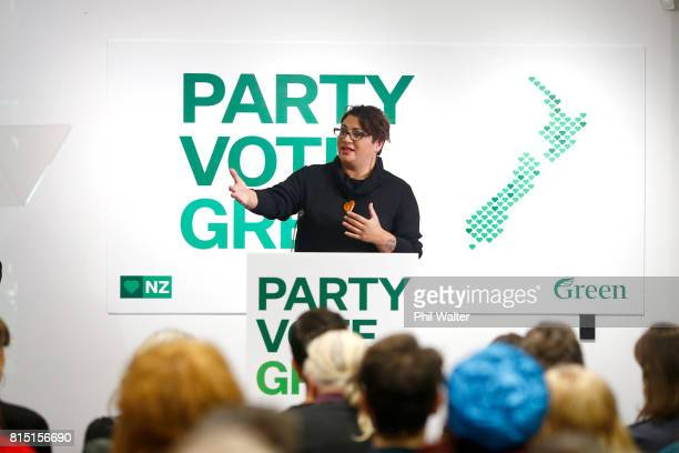 Green Party coleader Metiria Turei speaks during the 2017 Green Party Conference at AUT Auckland on July 16 2017 in Auckland New Zealand
