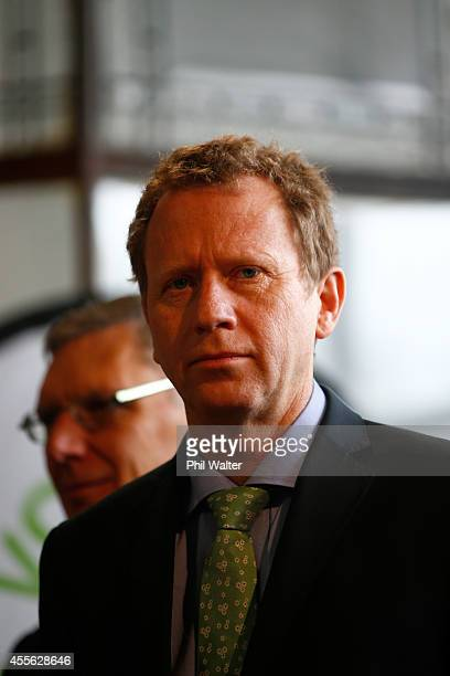 Green Party coleader Russel Norman during their election campaign event at St Kevins Arcade in Auckland on September 18 2014 in Auckland New Zealand...