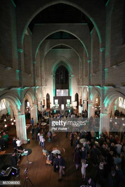 Green Party suipporters at the Green Party election night function at St Matthews in the City Church on September 23 2017 in Auckland New Zealand...