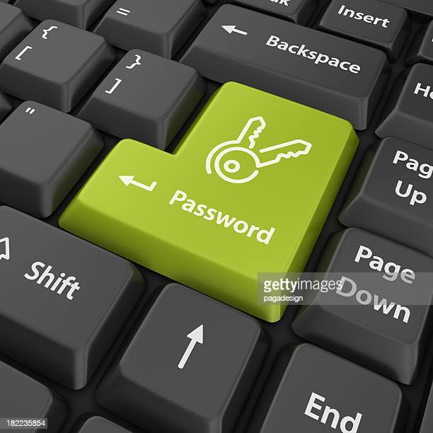green password enter button