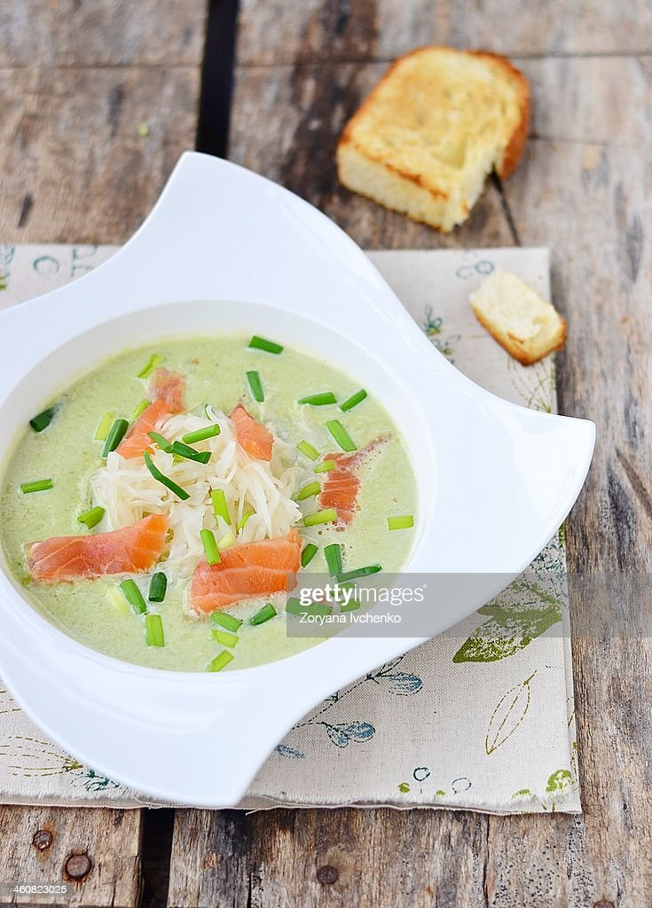 green pea soup : Stock Photo