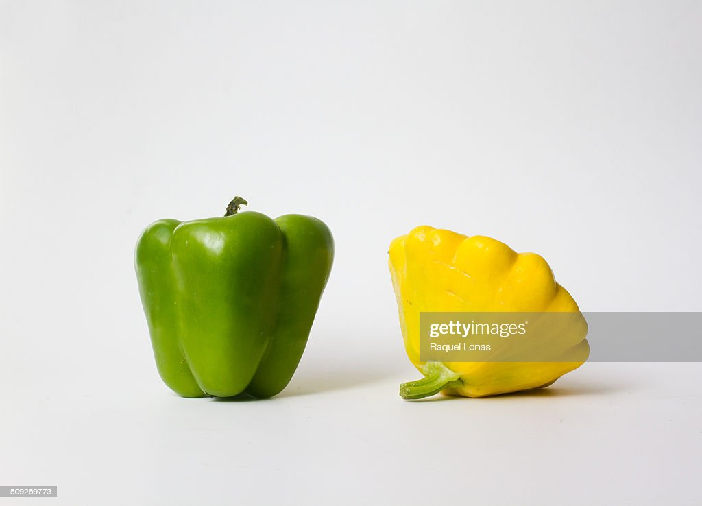 Green pepper and yellow summer squash
