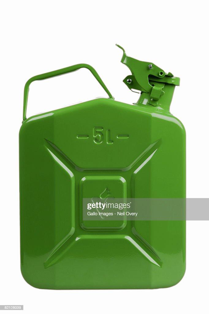 Green petrol can