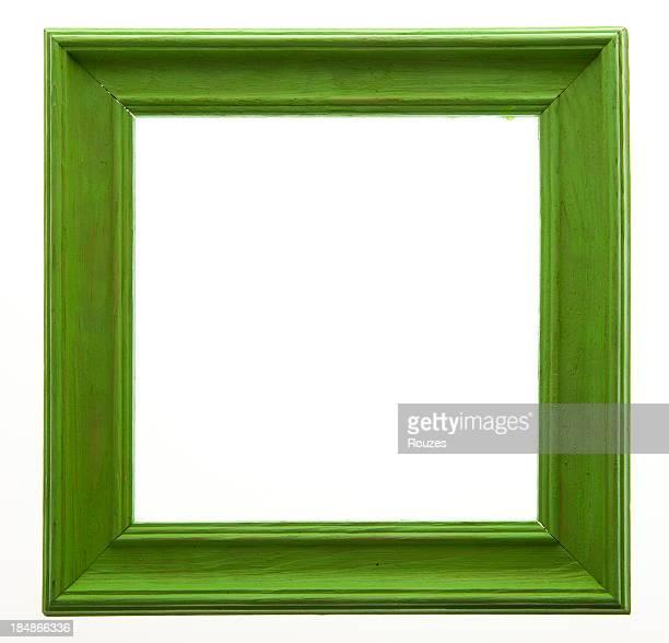 Green Picture Frame Isolated