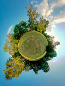Green planet - spherical view, Globe and Sphere