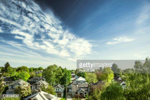 Vert maisons de Portland