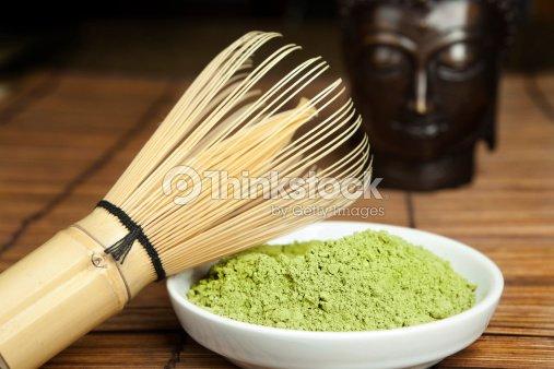Green powder tea : Stock Photo