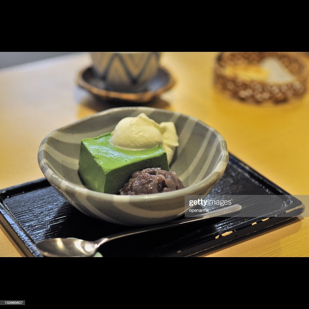 Green powdered tea : Stock Photo
