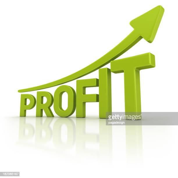 Vert graphique profit