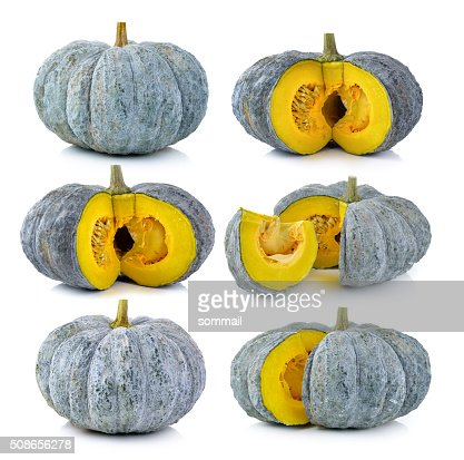 Green pumpkin isolated on the white background : Stock Photo
