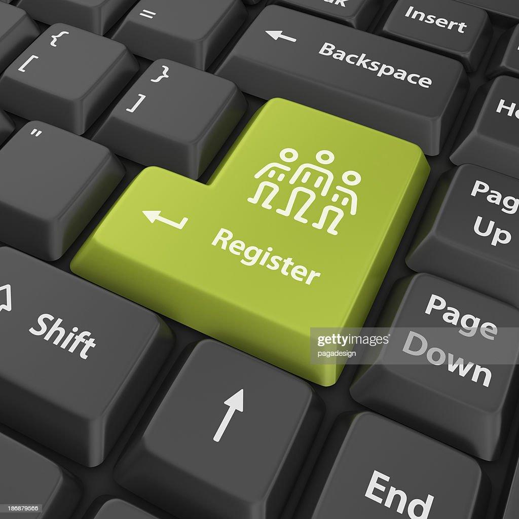 green register enter button