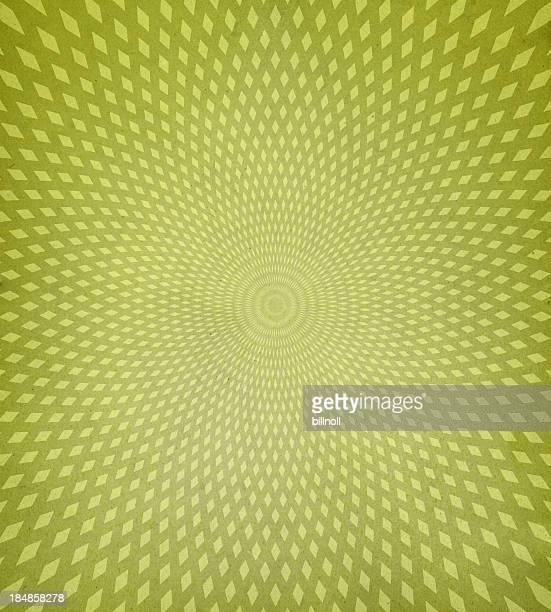 Fond rétro avec diamant vert motif en spirale