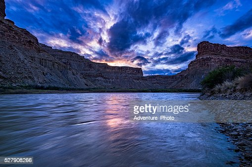 Green River at Sunset in Utah