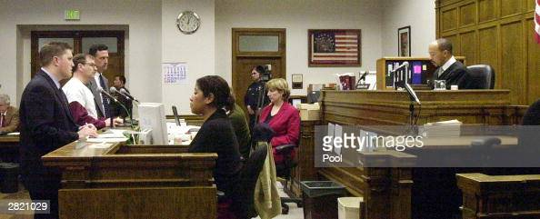 Green River Killer Gary Ridgway faces Judge Richard A Jones after reading a statement to the court to the court at King County Washington Superior...