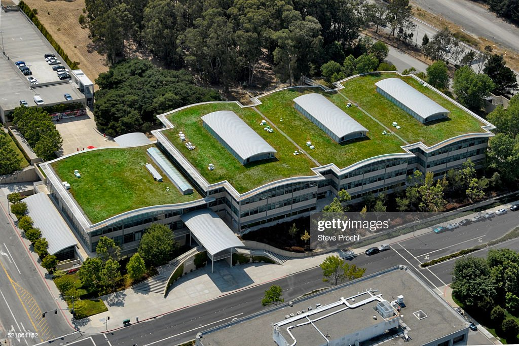 Youtube Offices green roof with solar panels on gap corporate headquarters