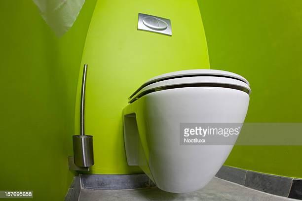 グリーンルームのトイレ fisheye の眺め
