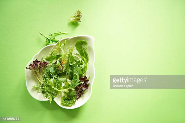 Green salad leaves