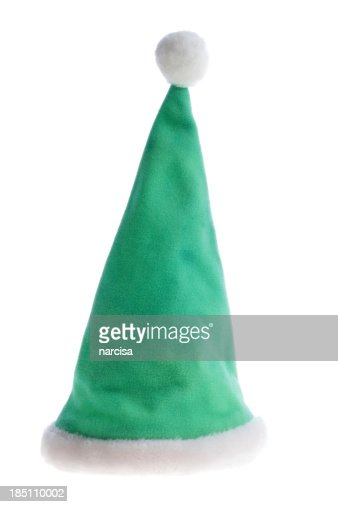 Green Santa Hat isolated on white