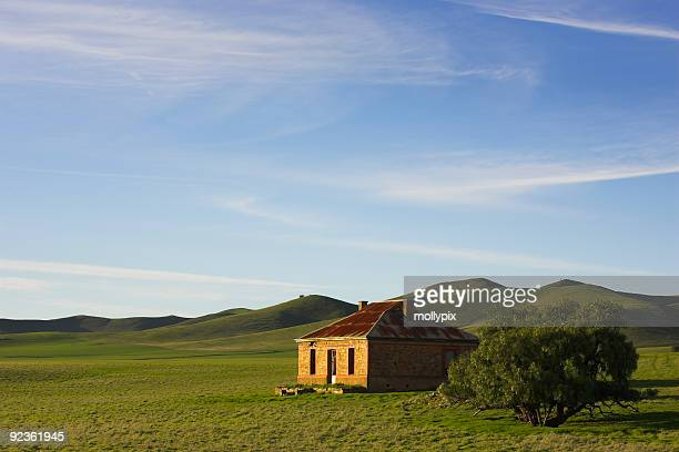 Green scenery of a farmhouse in Burra, South Australia