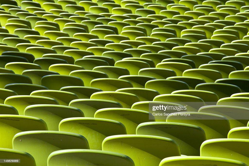Green seat pattern : Stock Photo