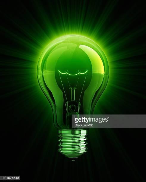Vert brillant de Ampoule