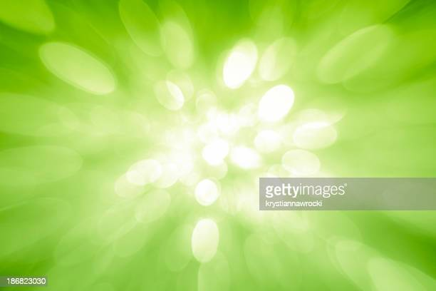 Green sparkles coming from the center