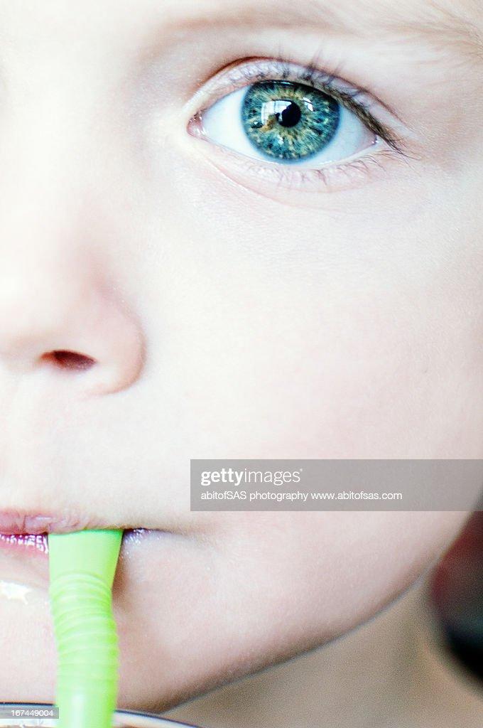 Green straw : Stock Photo