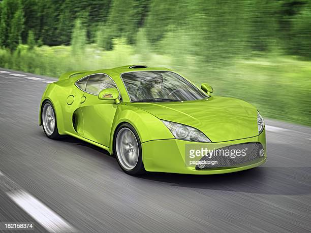 green supercar