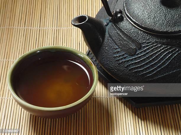 Thé vert et en fonte