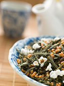 Green Tea Leaves with Brown Rice