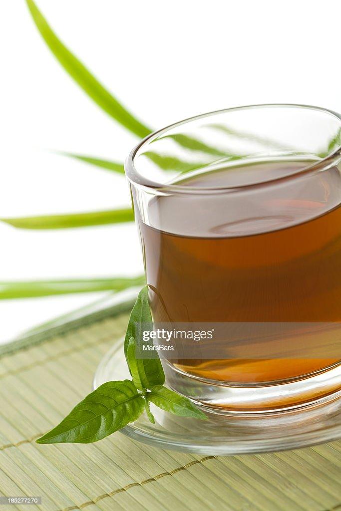 Green Tea on white background : Stock Photo