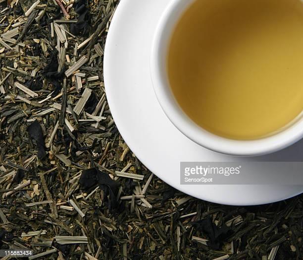 Green tea with algae.