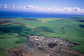 Green terrain, aerial view
