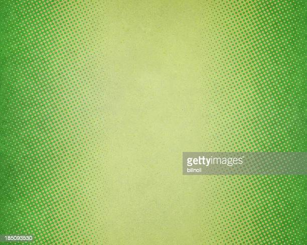 green textured paper with halftone