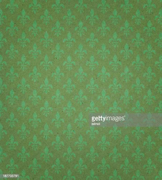 green textured paper with symbol