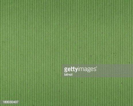 グリーンのテクスチャード加工紙、垂直ライン