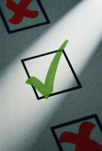 Green tick in box (Digital Composite)