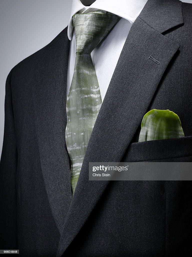 Green Tie Business Suit
