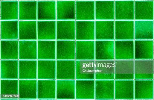 Green tile floor : Stock Photo
