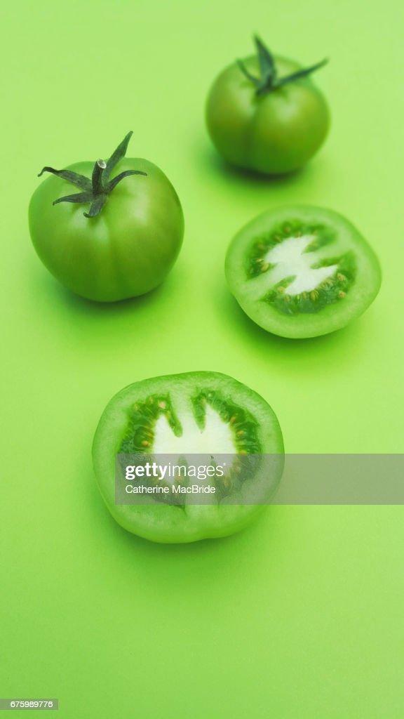 Green Tomatoes : Stock Photo
