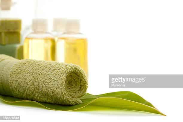 Green Towel in Leaf