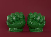 Green toy fist