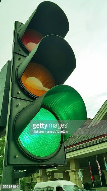 Green Traffic Light At Roadside