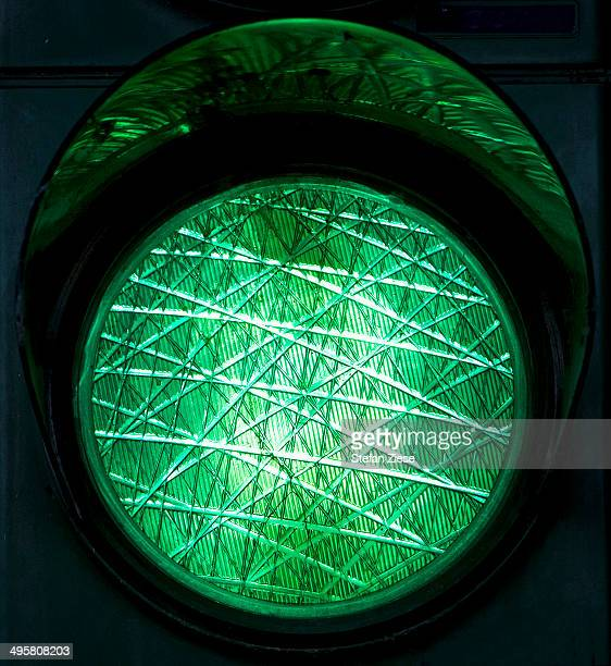 Green traffic light, North Rhine-Westphalia, Germany