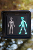 Green traffic light pedestrian