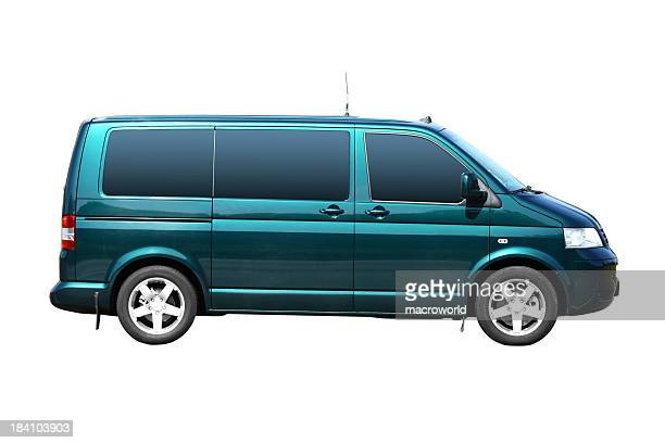 Green Van Isolated
