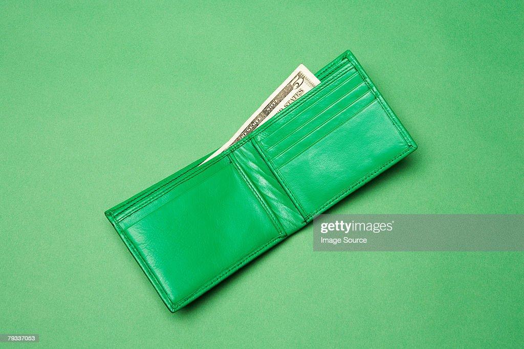 A green wallet