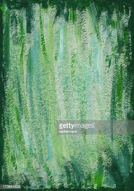 XXXXL グリーンの水彩バックグラウンド