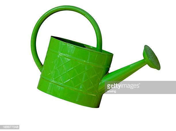 Green Watering Can with Clipping Path